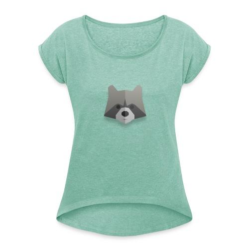 Raton-Laveur - T-shirt à manches retroussées Femme