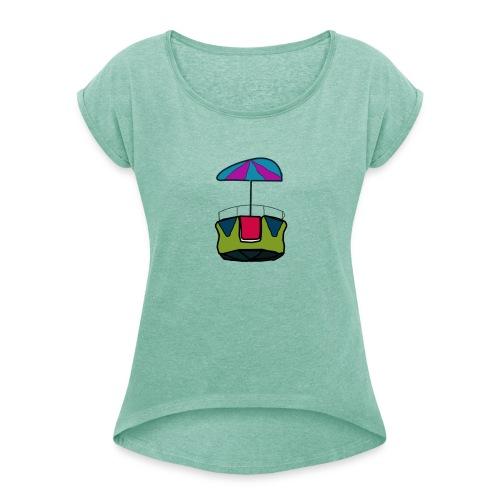 reuzenrad - Vrouwen T-shirt met opgerolde mouwen