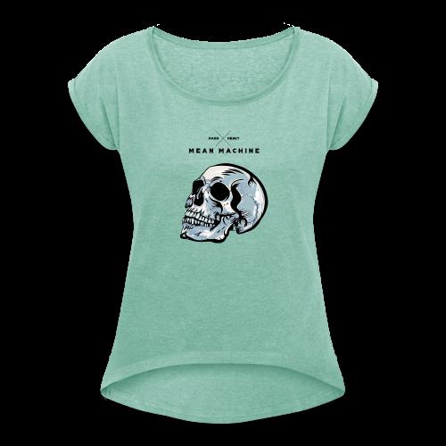 SKULL X - Frauen T-Shirt mit gerollten Ärmeln