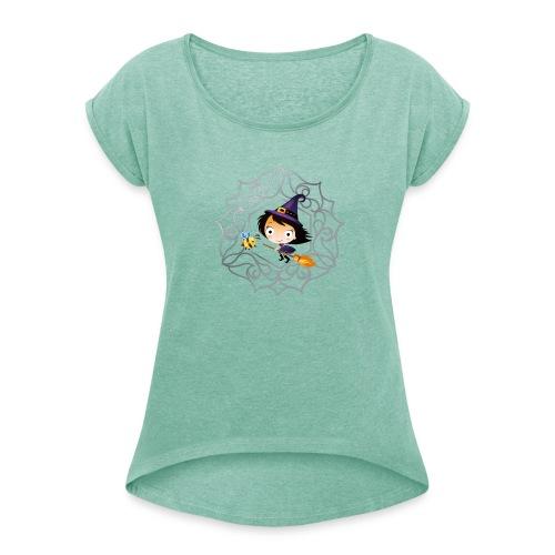 BeeWitched Logo - Frauen T-Shirt mit gerollten Ärmeln