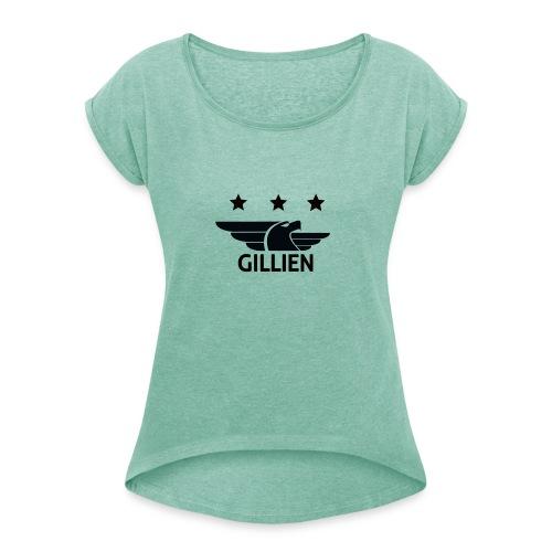GILLIEN CASUAL WEAR - T-skjorte med rulleermer for kvinner