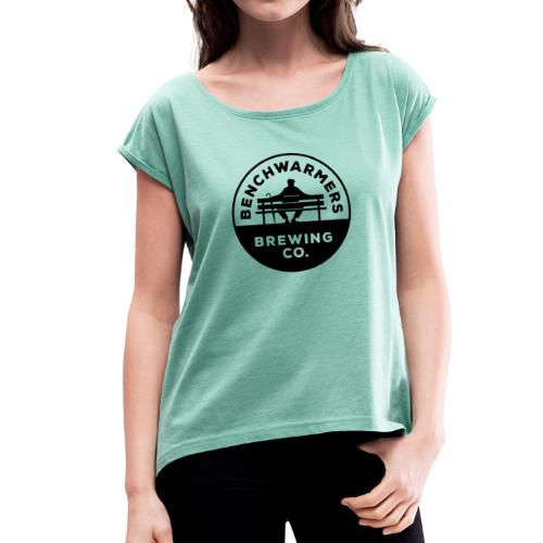 Benchwarmers Round Logo - T-shirt med upprullade ärmar dam