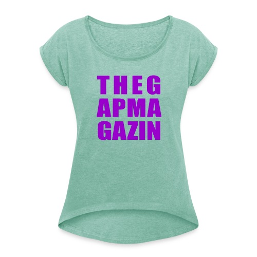 thegapmagazin lady - Frauen T-Shirt mit gerollten Ärmeln