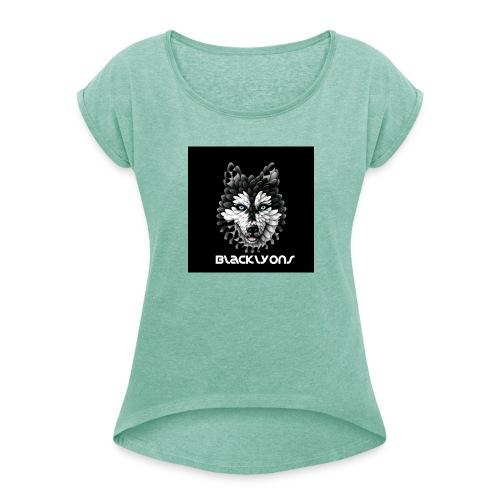 Blackly0ns - Maglietta da donna con risvolti