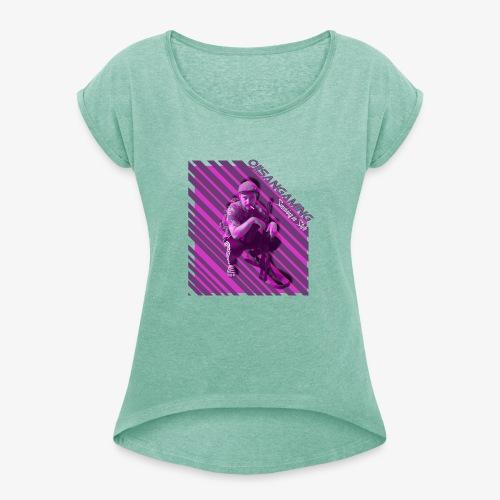Surviving in Style - T-shirt med upprullade ärmar dam