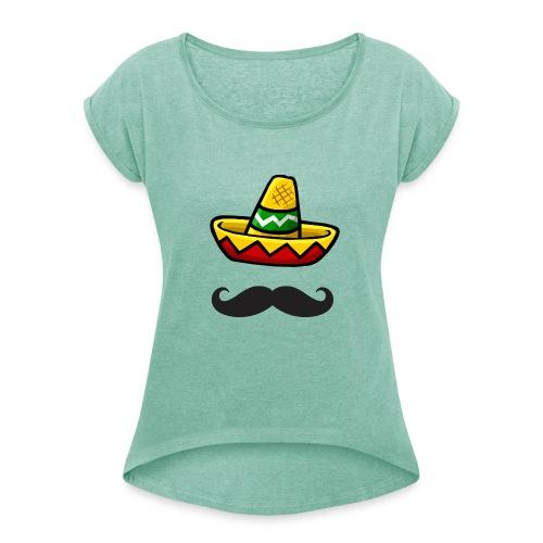 Fantôme mexicain - T-shirt à manches retroussées Femme