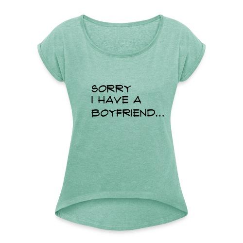 sorry - T-shirt à manches retroussées Femme