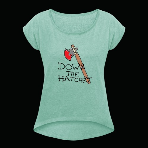 DTH Logo - Women's T-Shirt with rolled up sleeves