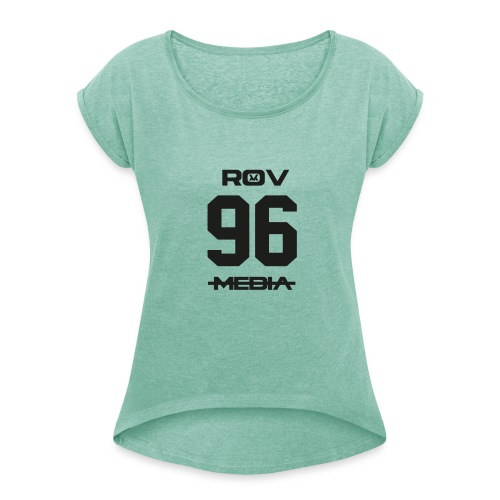 ROV Media - Vrouwen T-shirt met opgerolde mouwen
