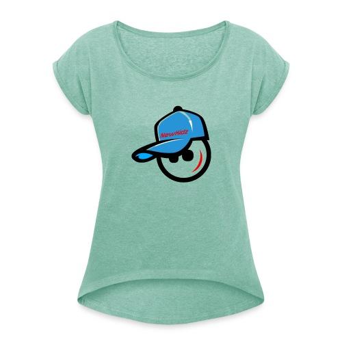 NewKidz Logo - Frauen T-Shirt mit gerollten Ärmeln