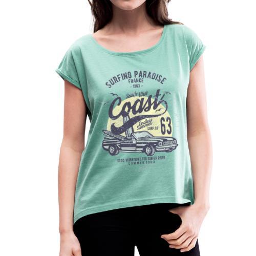 Surf West Coast - T-shirt à manches retroussées Femme