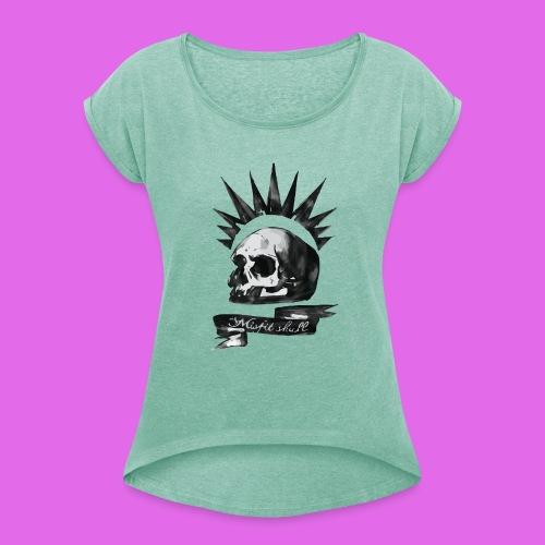 Skull - T-shirt à manches retroussées Femme