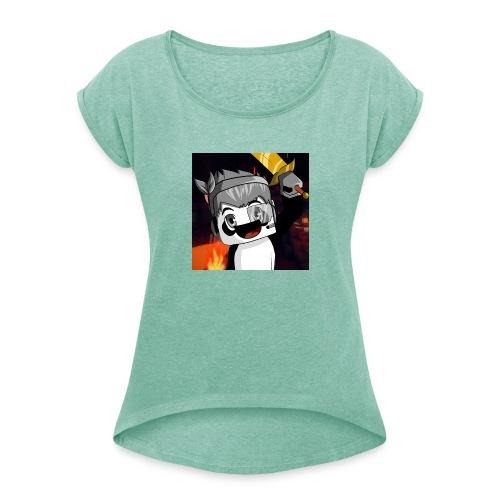 Bnjiix Marchandise - T-shirt à manches retroussées Femme