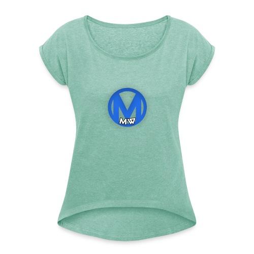 MWVIDEOS KLEDING - Vrouwen T-shirt met opgerolde mouwen
