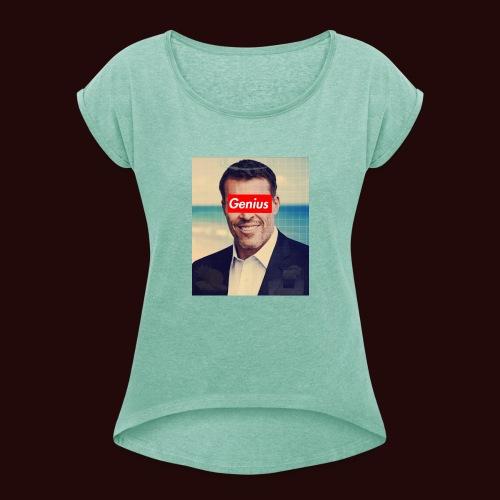 Tony robins - T-shirt à manches retroussées Femme