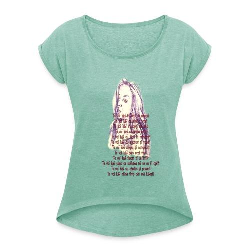 Citat 3 SSm - Camiseta con manga enrollada mujer