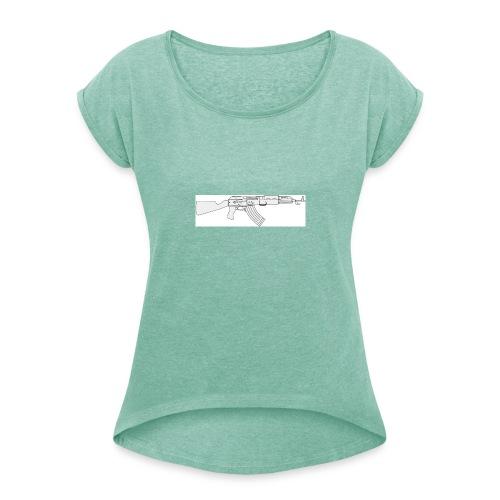 Tin3ashin Shirt Kalashnikov - Vrouwen T-shirt met opgerolde mouwen