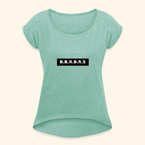 Design 22 - Frauen T-Shirt mit gerollten Ärmeln