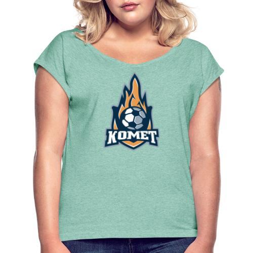 Komet - Frauen T-Shirt mit gerollten Ärmeln