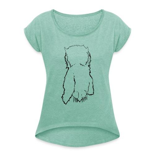 OwlCrew - Frauen T-Shirt mit gerollten Ärmeln