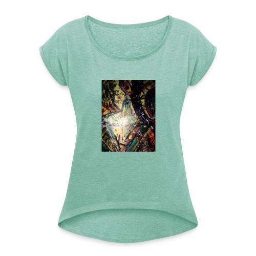nicht klauen - Frauen T-Shirt mit gerollten Ärmeln