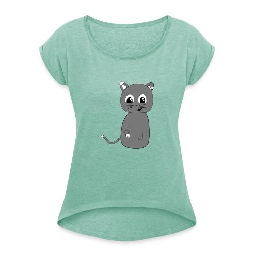 tee shirt lou3 - T-shirt à manches retroussées Femme