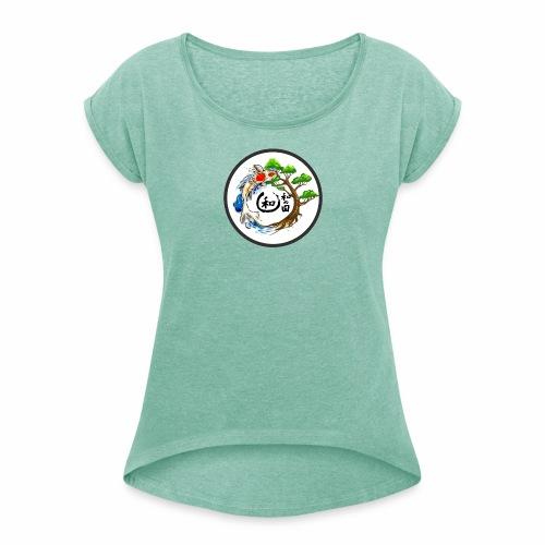 Harmonie im Garten Daniel Pucher Design - Frauen T-Shirt mit gerollten Ärmeln
