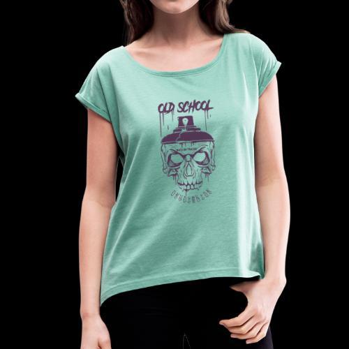 teschio old VIOLA - Maglietta da donna con risvolti