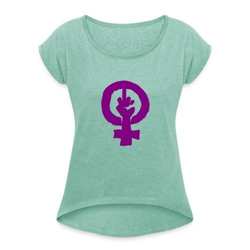 feminismo - Camiseta con manga enrollada mujer