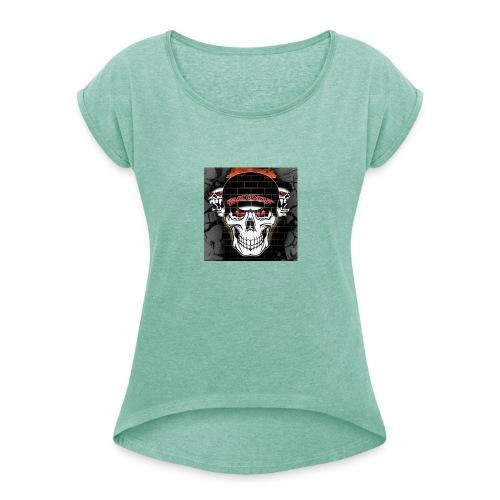 Mcoof - Frauen T-Shirt mit gerollten Ärmeln
