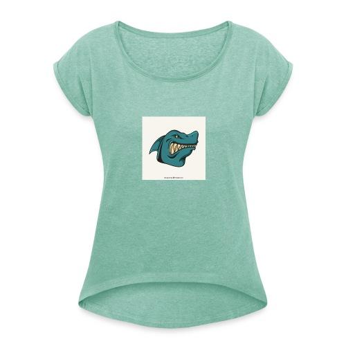 requin mascotte weelax - T-shirt à manches retroussées Femme