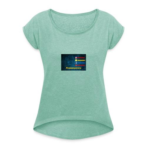 Mustafaalsaeedi - T-shirt med upprullade ärmar dam