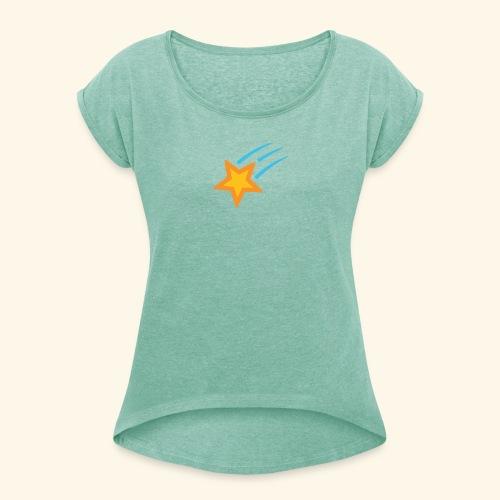 shooting star - Frauen T-Shirt mit gerollten Ärmeln
