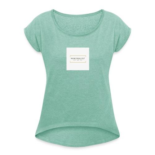 Minimalist - T-shirt à manches retroussées Femme