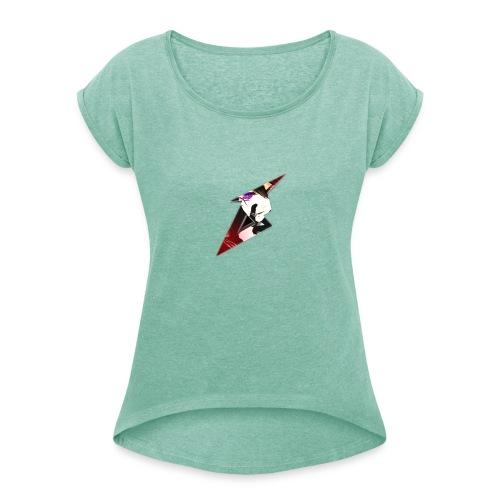 SenseiBreez - Frauen T-Shirt mit gerollten Ärmeln