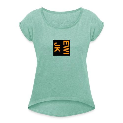Ewijk - Vrouwen T-shirt met opgerolde mouwen