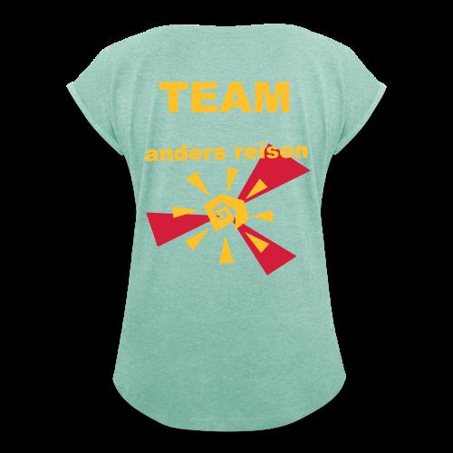 AndersReisen Teamer - Frauen T-Shirt mit gerollten Ärmeln