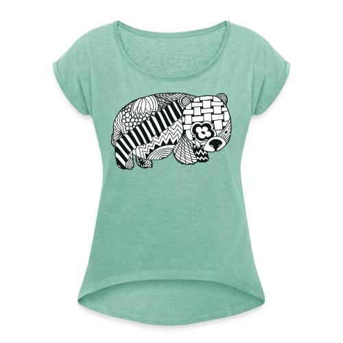 Wombat - Frauen T-Shirt mit gerollten Ärmeln