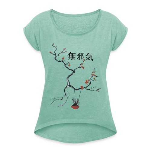 cerisier et sa balançoire - T-shirt à manches retroussées Femme