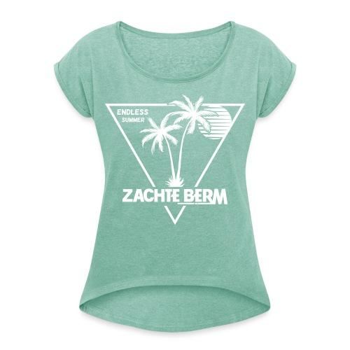 Zachte berm shirt def - Vrouwen T-shirt met opgerolde mouwen