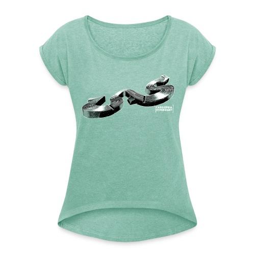 StreamStyle - Frauen T-Shirt mit gerollten Ärmeln