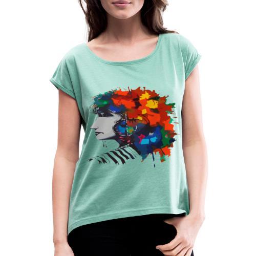 bedia - T-shirt à manches retroussées Femme
