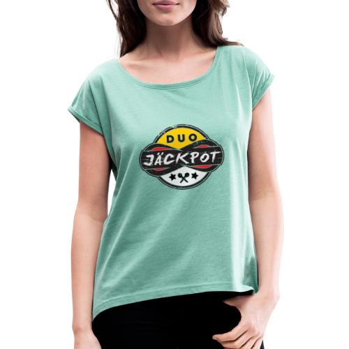 Duo Jäckpot Logo - Frauen T-Shirt mit gerollten Ärmeln