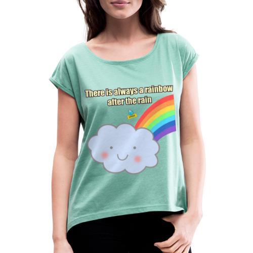 Bubbly! Rainbow - Maglietta da donna con risvolti