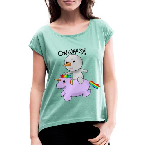 ONWARD! - T-skjorte med rulleermer for kvinner