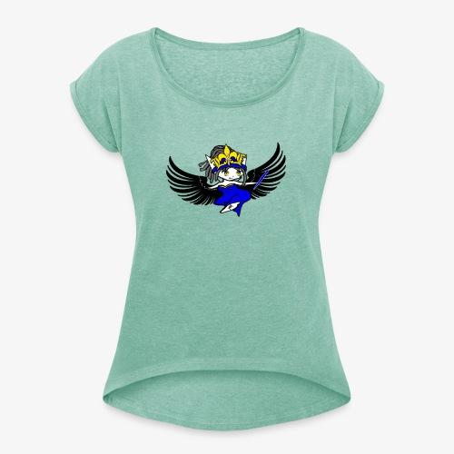 Queen Leadz - T-shirt à manches retroussées Femme