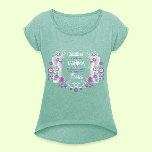 disegno linea Anima - Maglietta da donna con risvolti