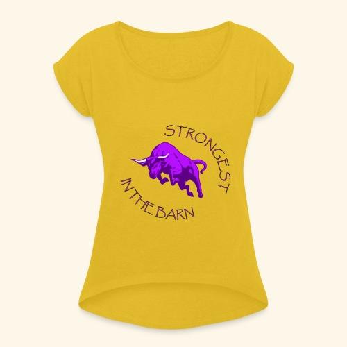 STRONGEST - Maglietta da donna con risvolti