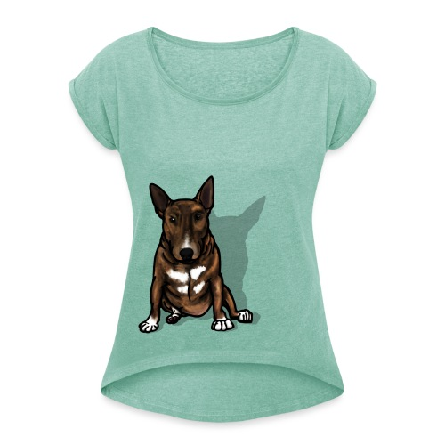 Bruce The Bully - Women's T-Shirt with rolled up sleeves
