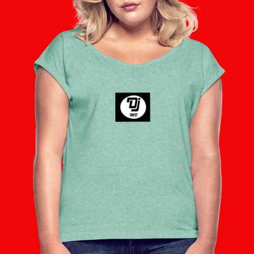 logo dj mb - T-shirt à manches retroussées Femme